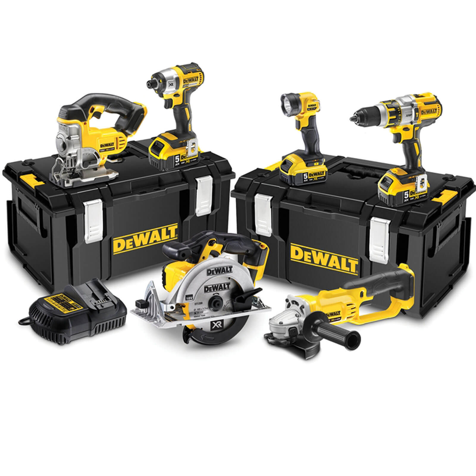 DeWalt DCK694P3 18v XR Cordless 6 Piece Power Tool Kit 3 x 5ah Liion Charger Case