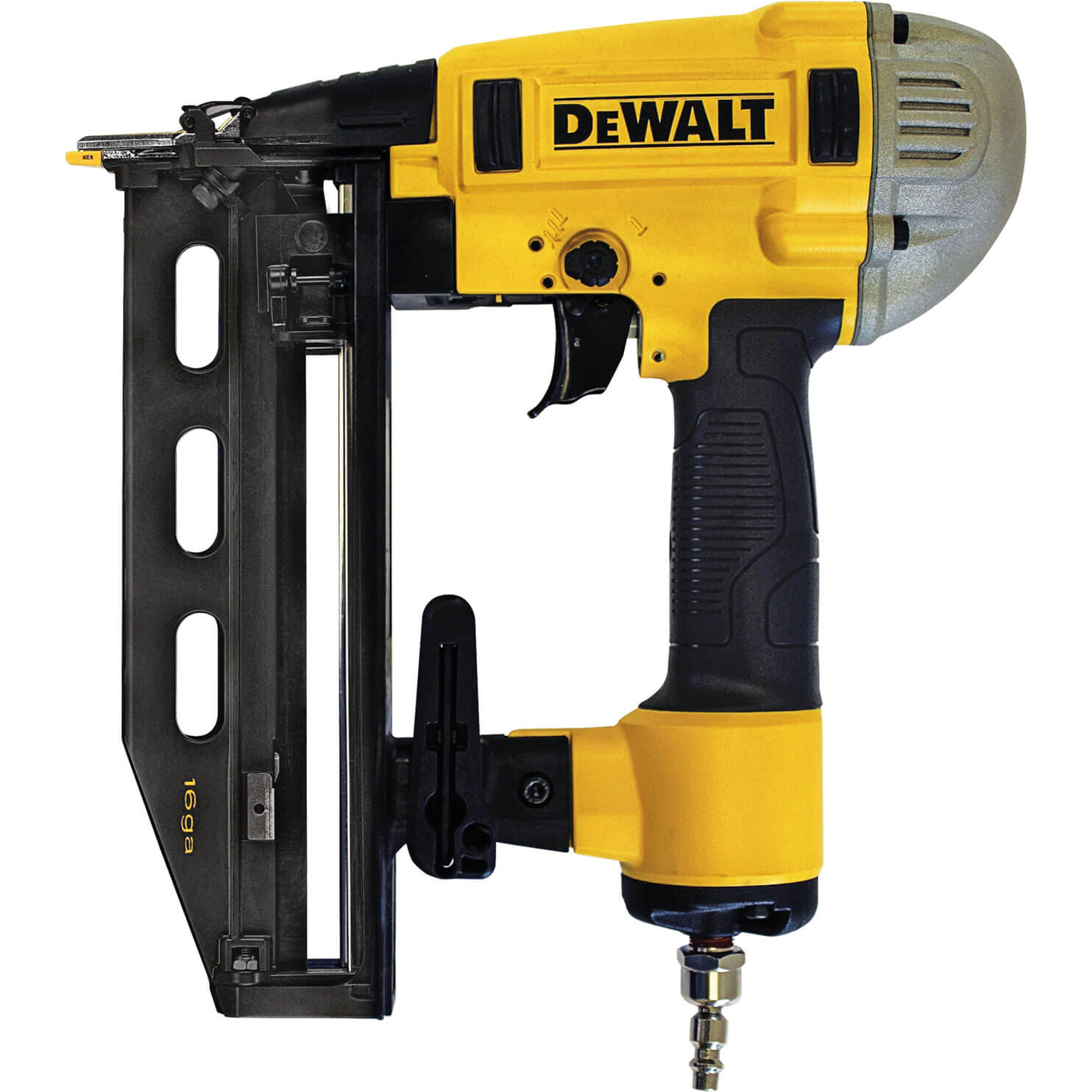 Image of DeWalt DPN1664 Postive Placement Gauge Finish Air Nail Gun