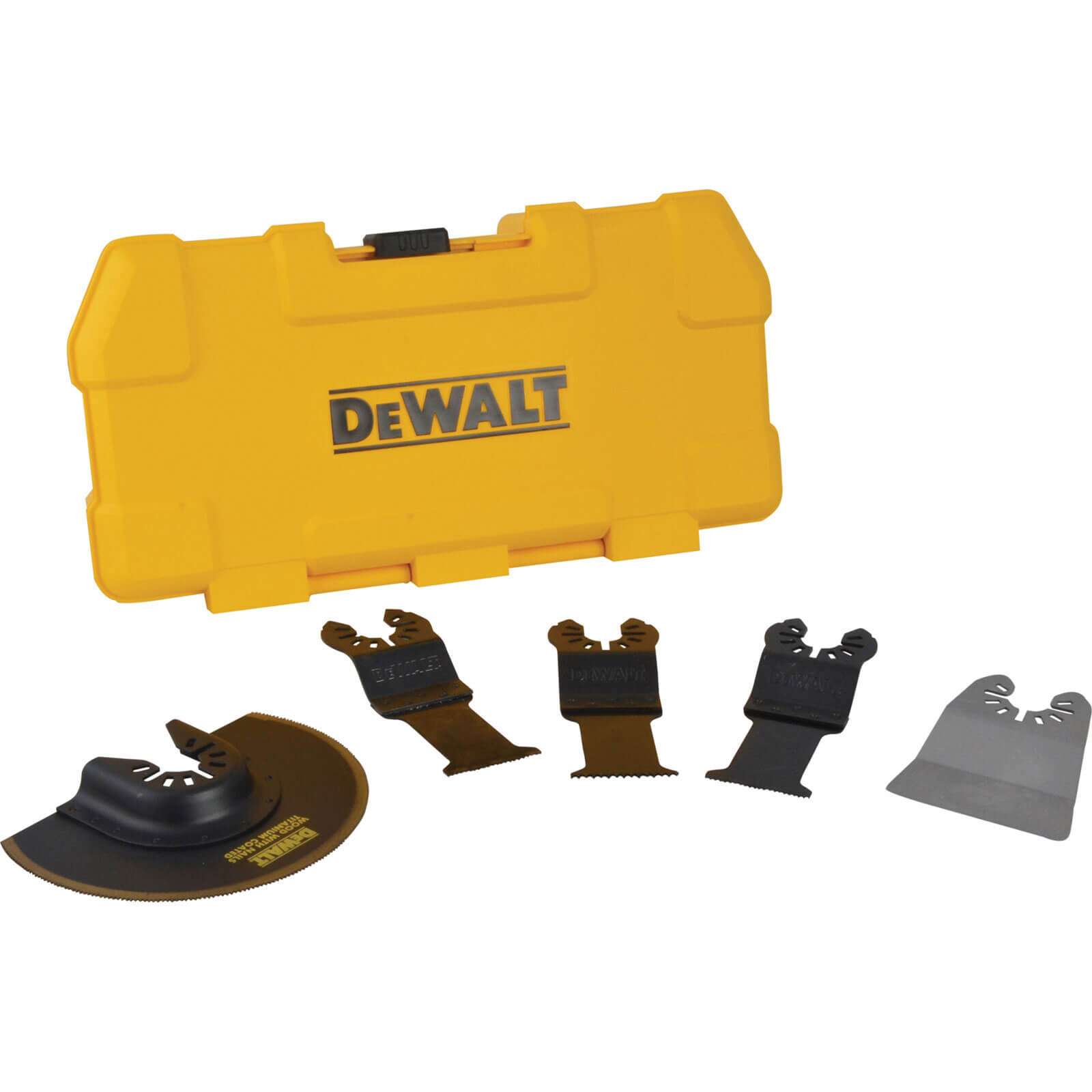 Image of DeWalt 5 Piece Oscillating Multi Tool Blade Set