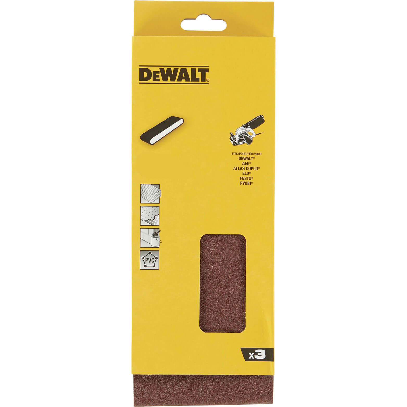 Image of DeWalt 100 x 560mm Multi Purpose Sanding Belts 100mm x 560mm 150g Pack of 3