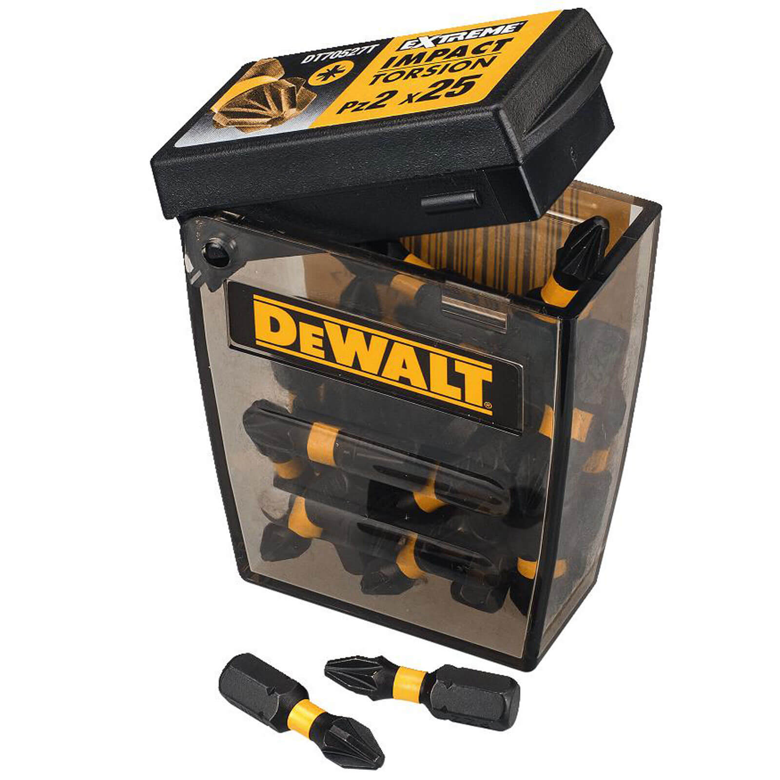 Image of DeWalt Extreme Impact Pozi Screwdriver Bits PZ2 25mm Pack of 25
