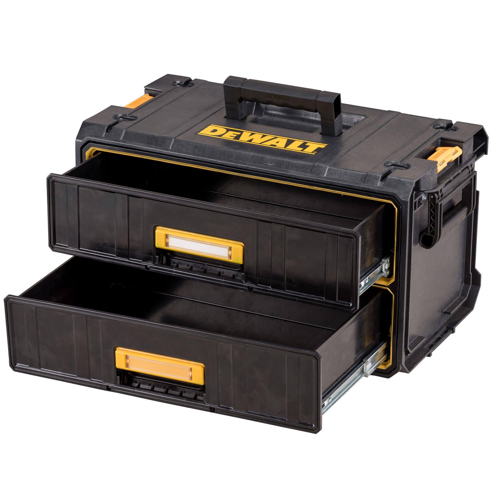 dewalt ds290 tough system two drawer parts tool box. Black Bedroom Furniture Sets. Home Design Ideas