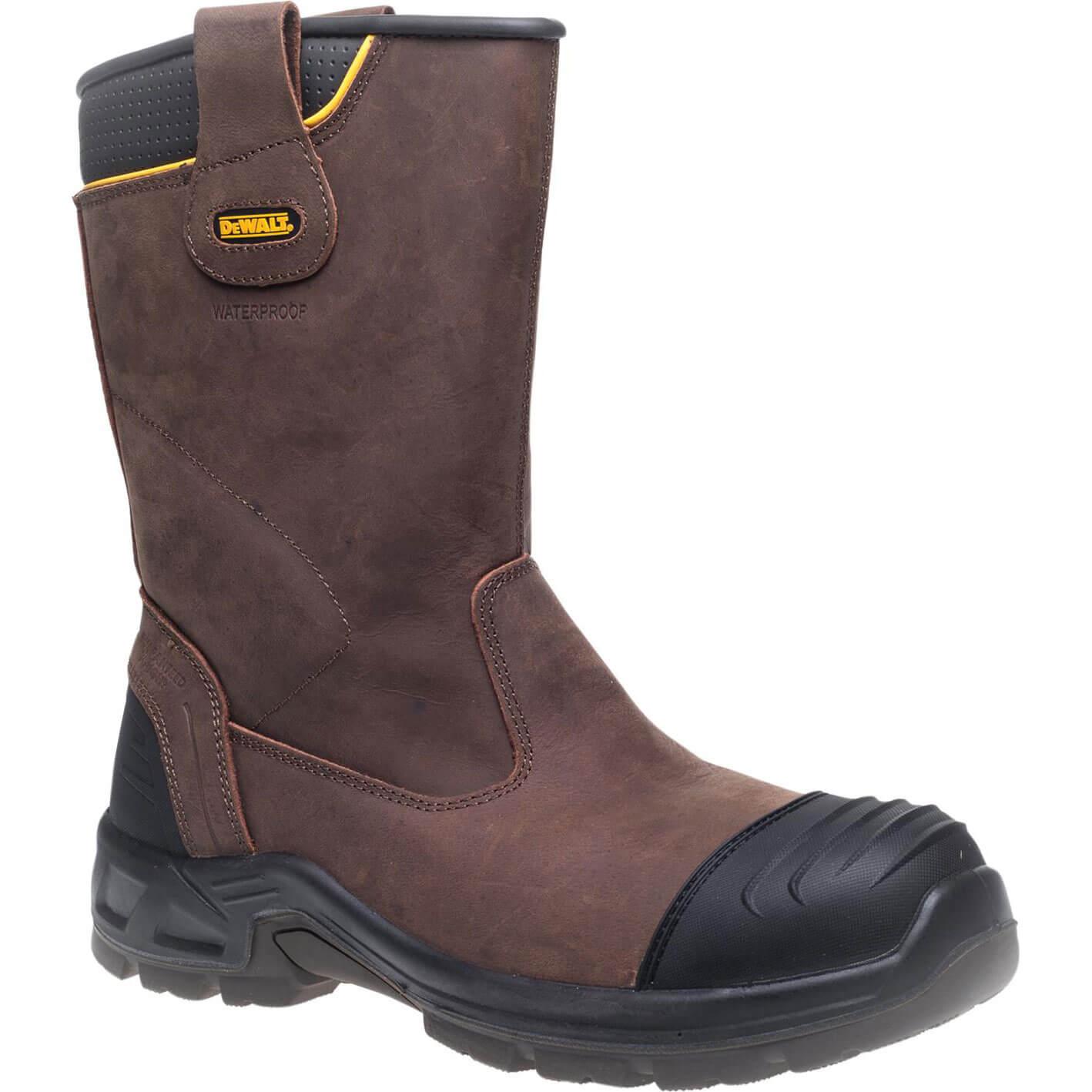 DeWalt Mens Millington Waterproof Rigger Boots Brown Size 10