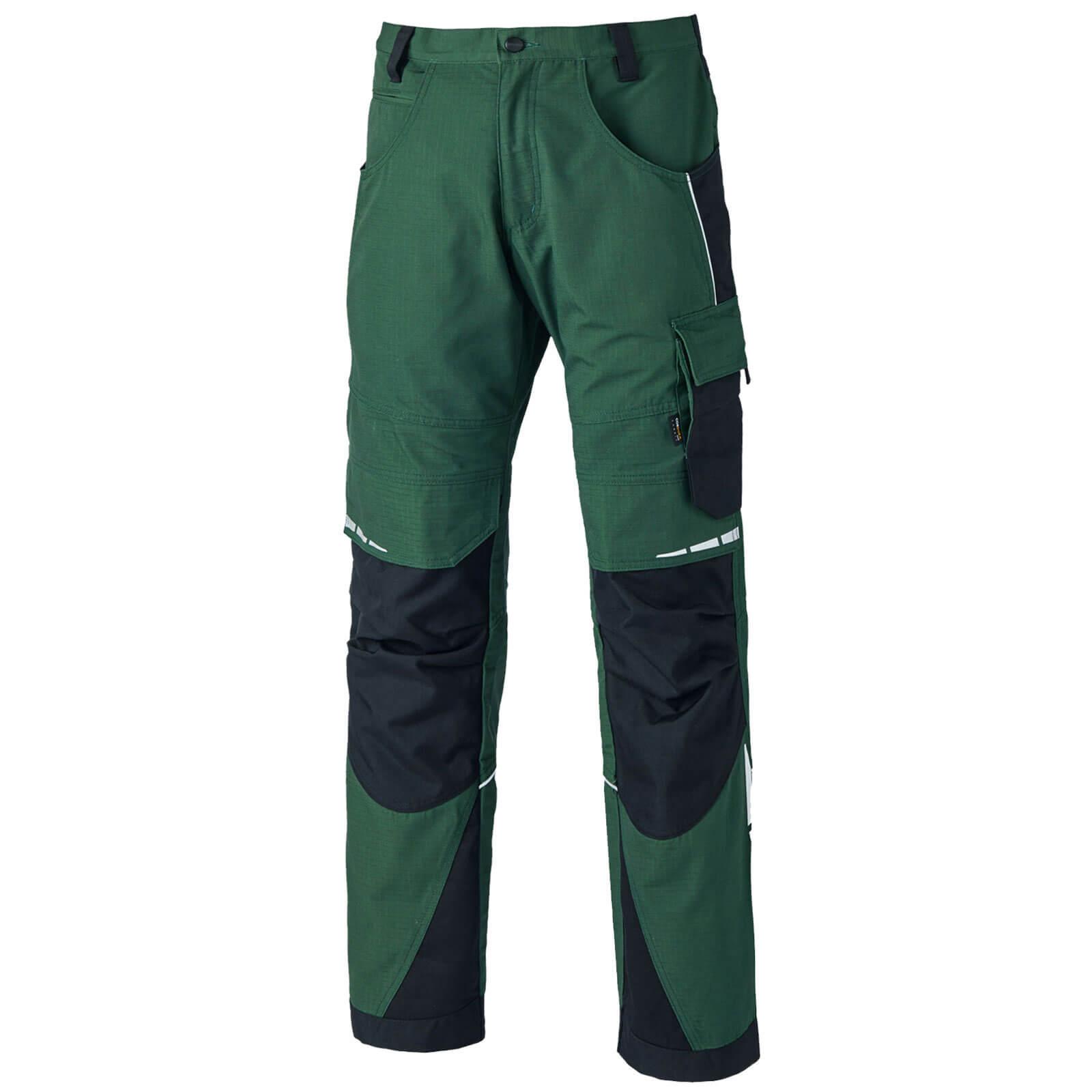 "Dickies Mens Pro Trousers Green / Black 48"" 34"""