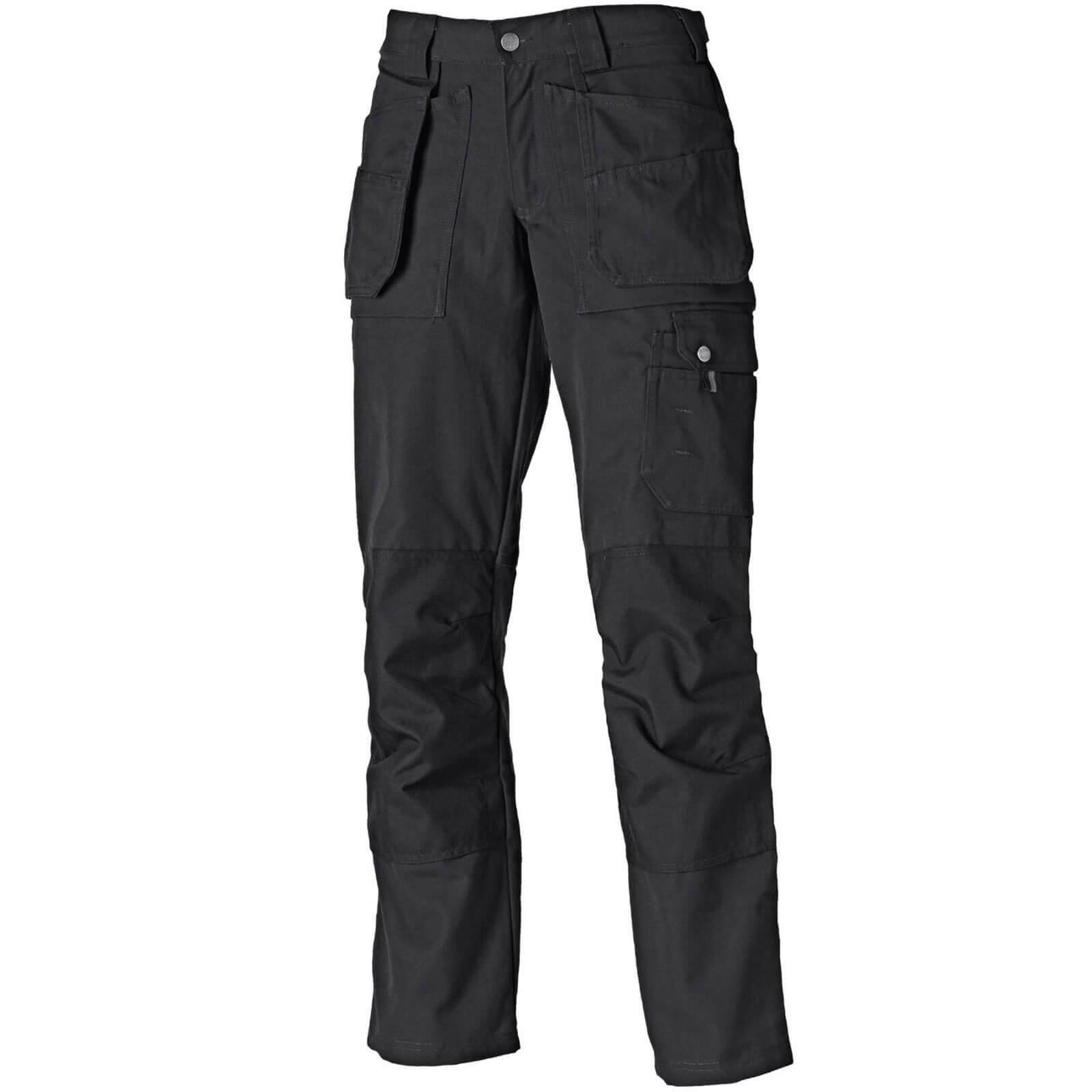 Dickies Ladies Eisenhower Multi Pocket Trousers Black 10 32