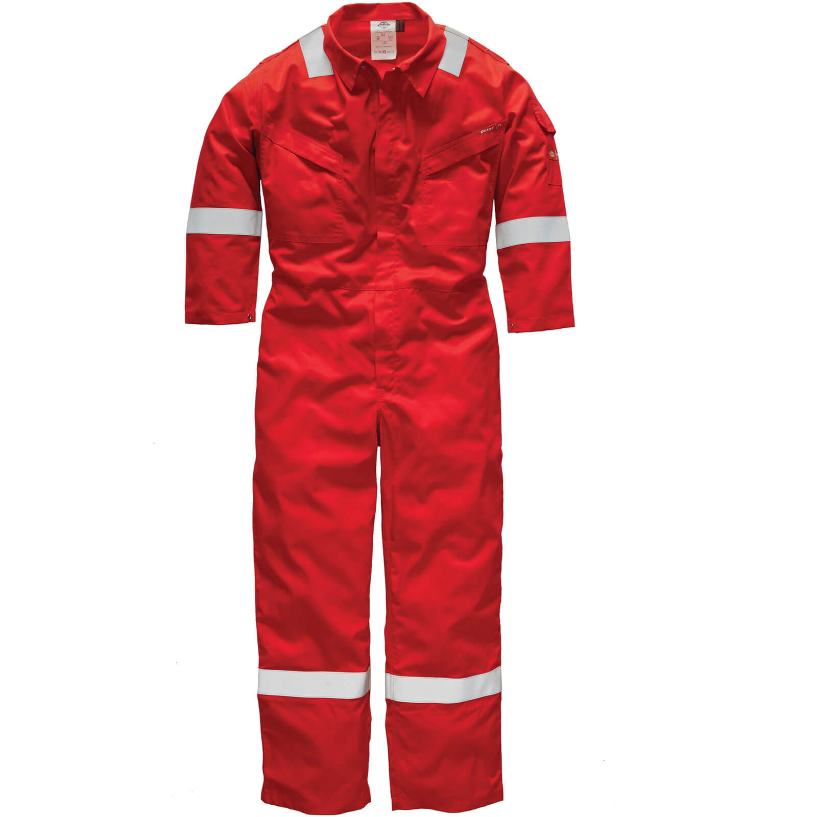 Dickies Mens Pyrovatex Flame Retardant Overalls Red 40