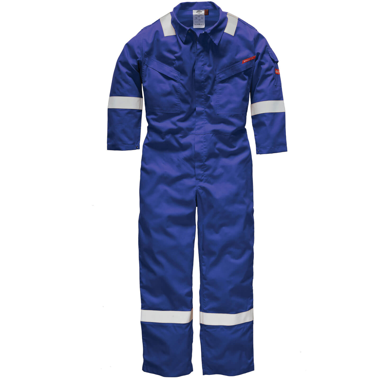 Dickies Mens Flame Retardant Overalls Royal Blue 56