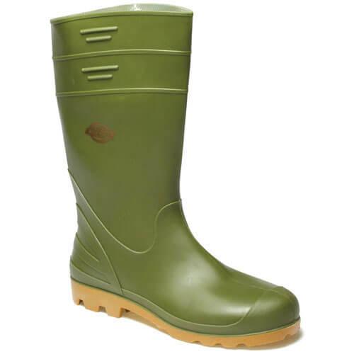Dickies Mens Pennine Wellington Boots Green 9