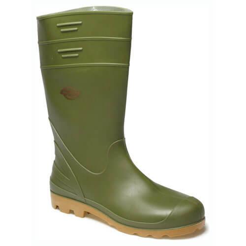 Dickies Mens Pennine Wellington Boots Green 5