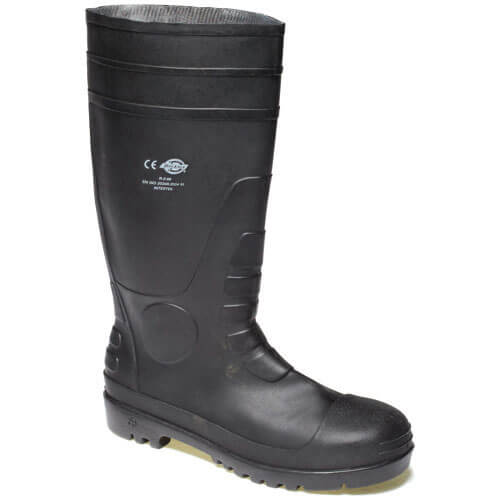 Dickies Mens Safety Wellington Boots Black 8