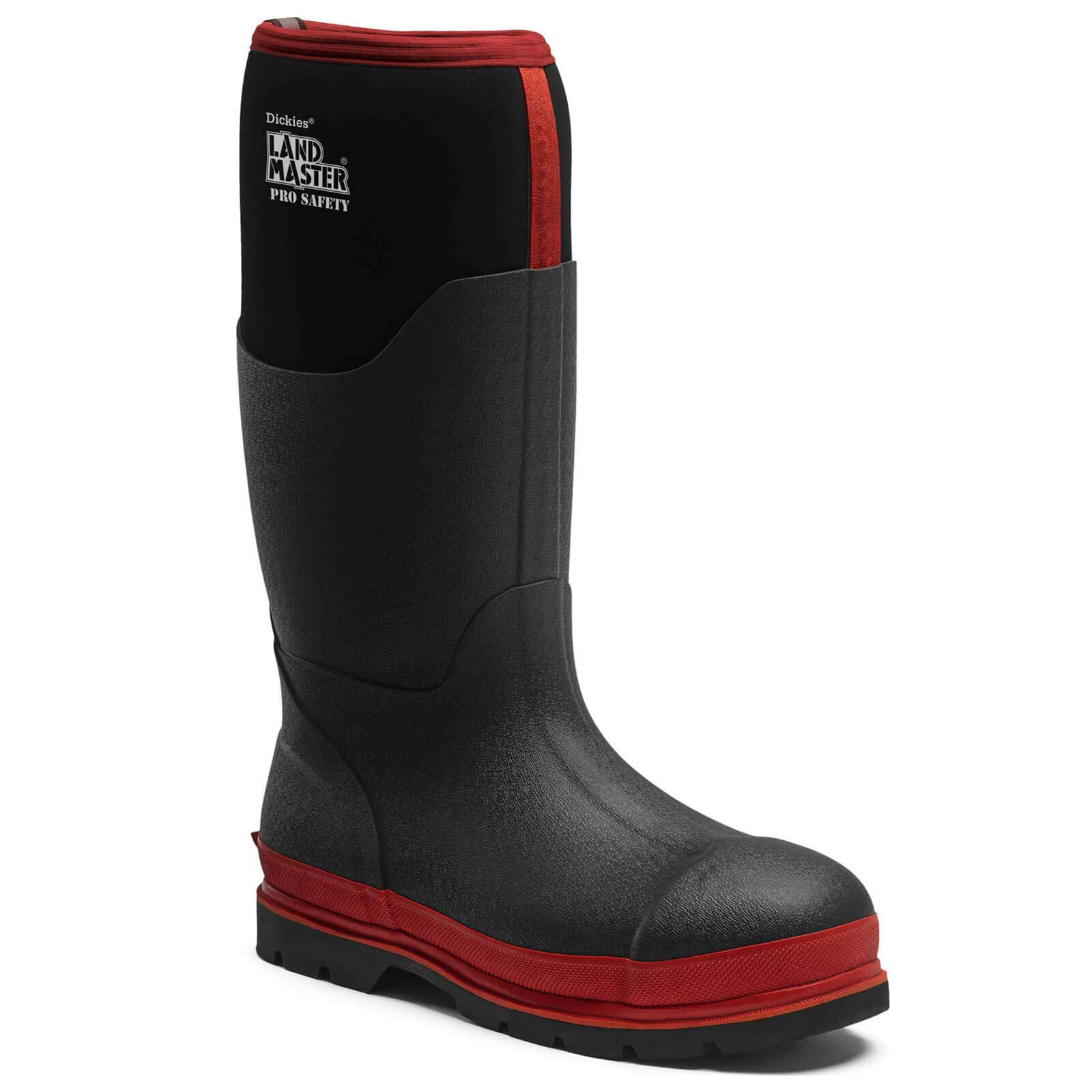 Dickies Landmaster Pro Safety Wellington Boots Black / Red