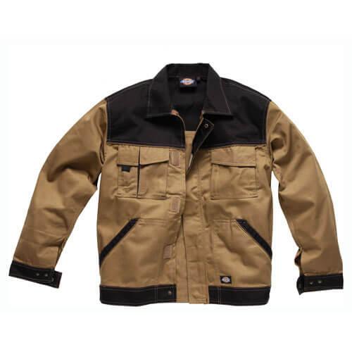 Dickies Mens Industry 300 Two Tone Jacket Khaki  Black 2XL