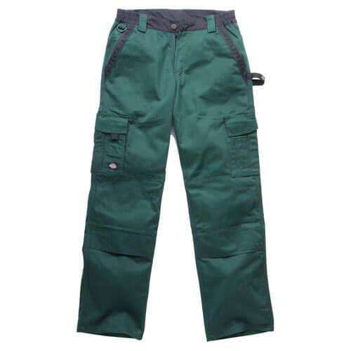 "Dickies Mens Industry 300 Two Tone Work Trousers Green / Black 42"" 33"""
