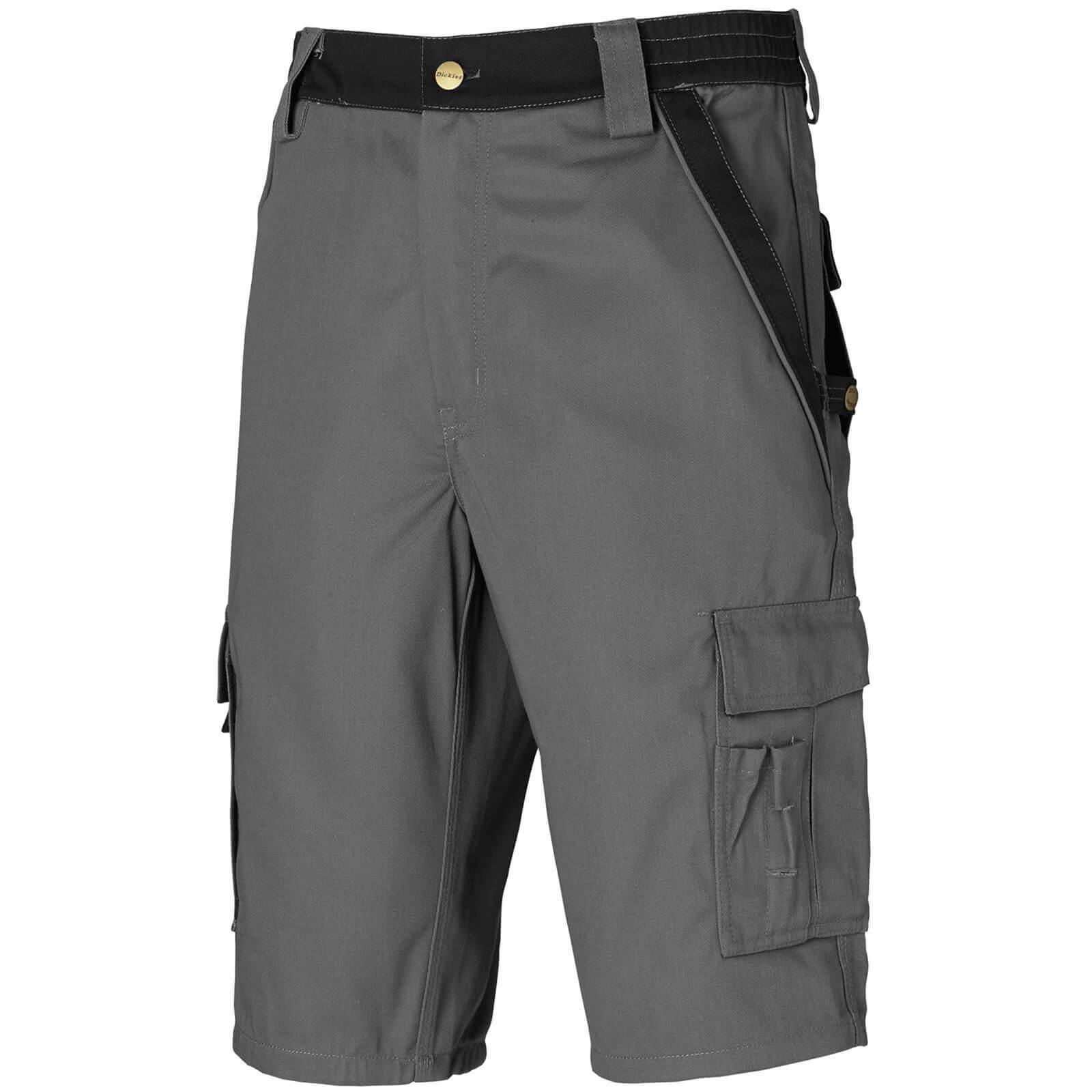 "Dickies Mens Industry 300 Two Tone Shorts Grey / Black 42"""