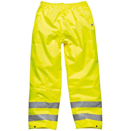 Dickies Mens High Vis Highway Safety Trousers Yellow XL
