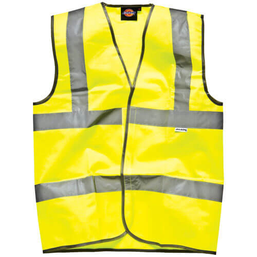 Dickies High Vis Safety Highway Waistcoat Yellow M