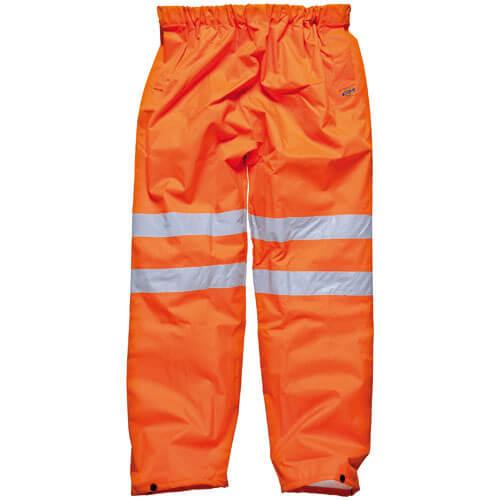 Dickies Mens High Vis GO/RT Over Trousers Orange S