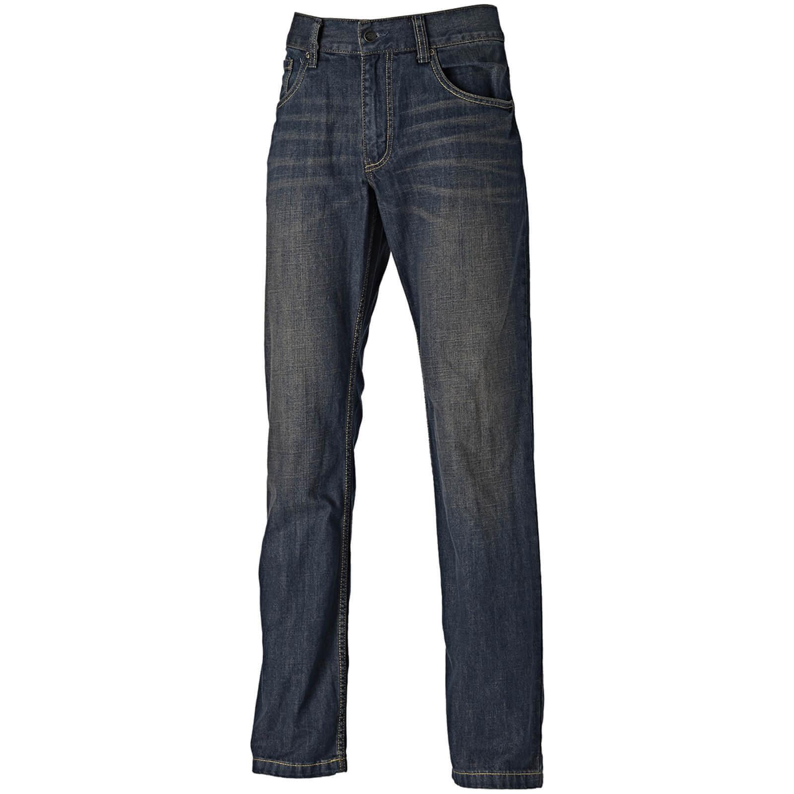 "Image of Dickies Mens Boston Jeans Blue 30"" 34"""