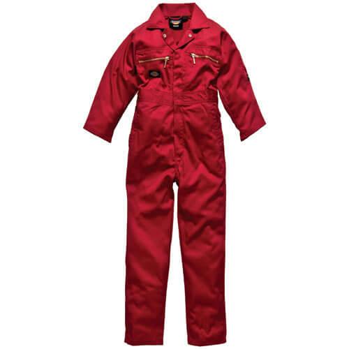 "Image of Dickies Junior Redhawk Overalls Red 24"""