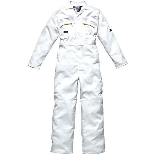 Dickies Mens Redhawk Overalls White 38 30