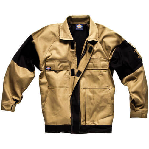 Dickies Mens Grafter Duo Tone Jacket Khaki  Black 2XL