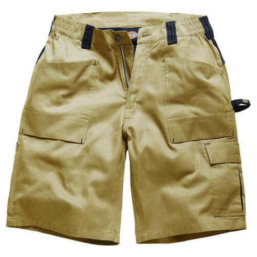 Dickies Mens Grafter Duo Tone Shorts Khaki  Black 28