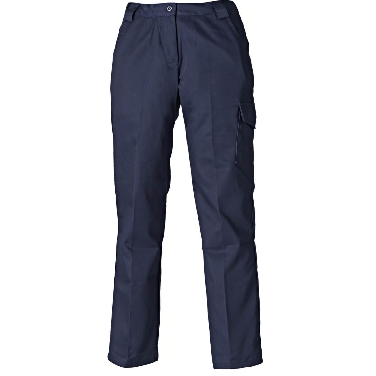 Dickies Ladies Redhawk Trousers Navy Blue Size 10 31