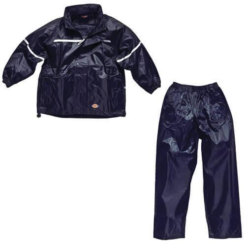 Dickies Childrens Vermont Waterproof Suit Navy 9 - 10