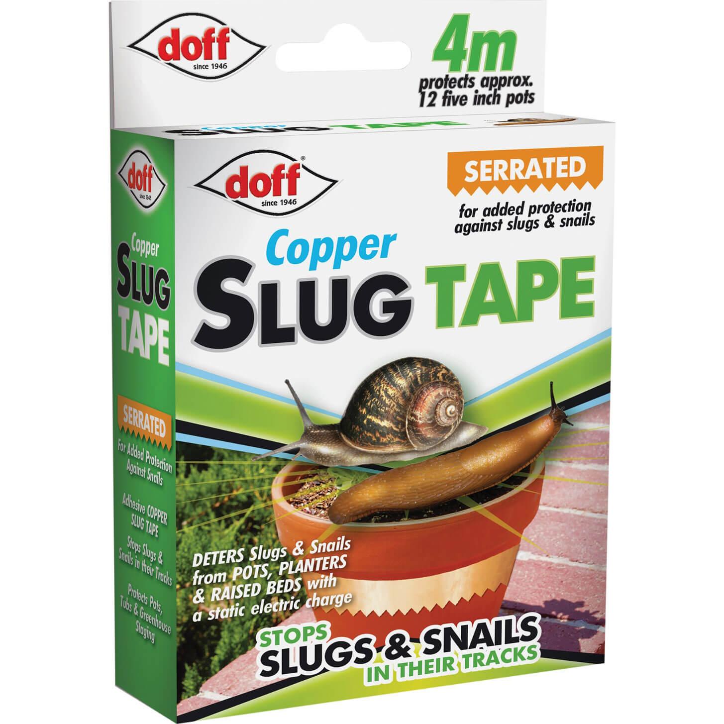 Image of Doff Adhesive Copper Slug & Snail Tape 4m