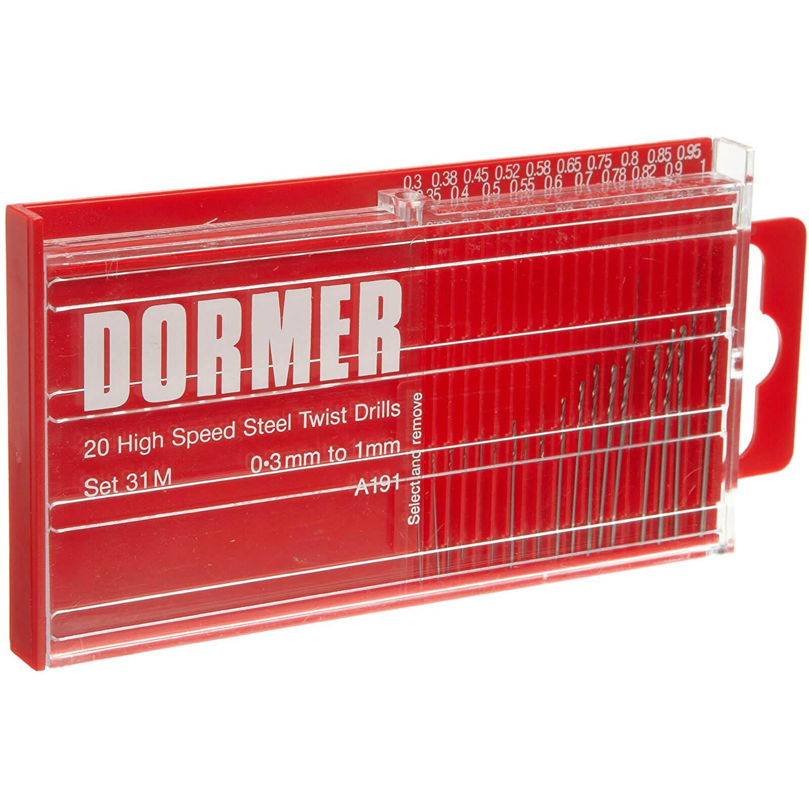 Image of Dormer A191-31M 20 Piece HSS Jobber Drill Bit Set