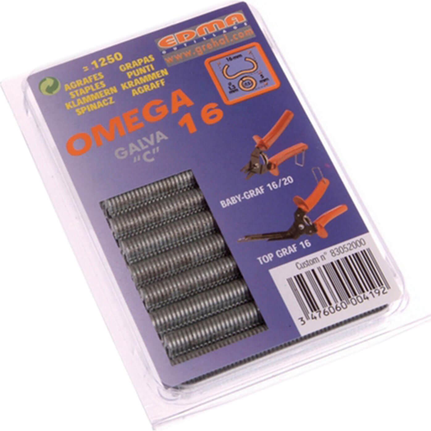 Image of Edma Galv Steel Hog Ring Omega Size 16 Pack of 1250