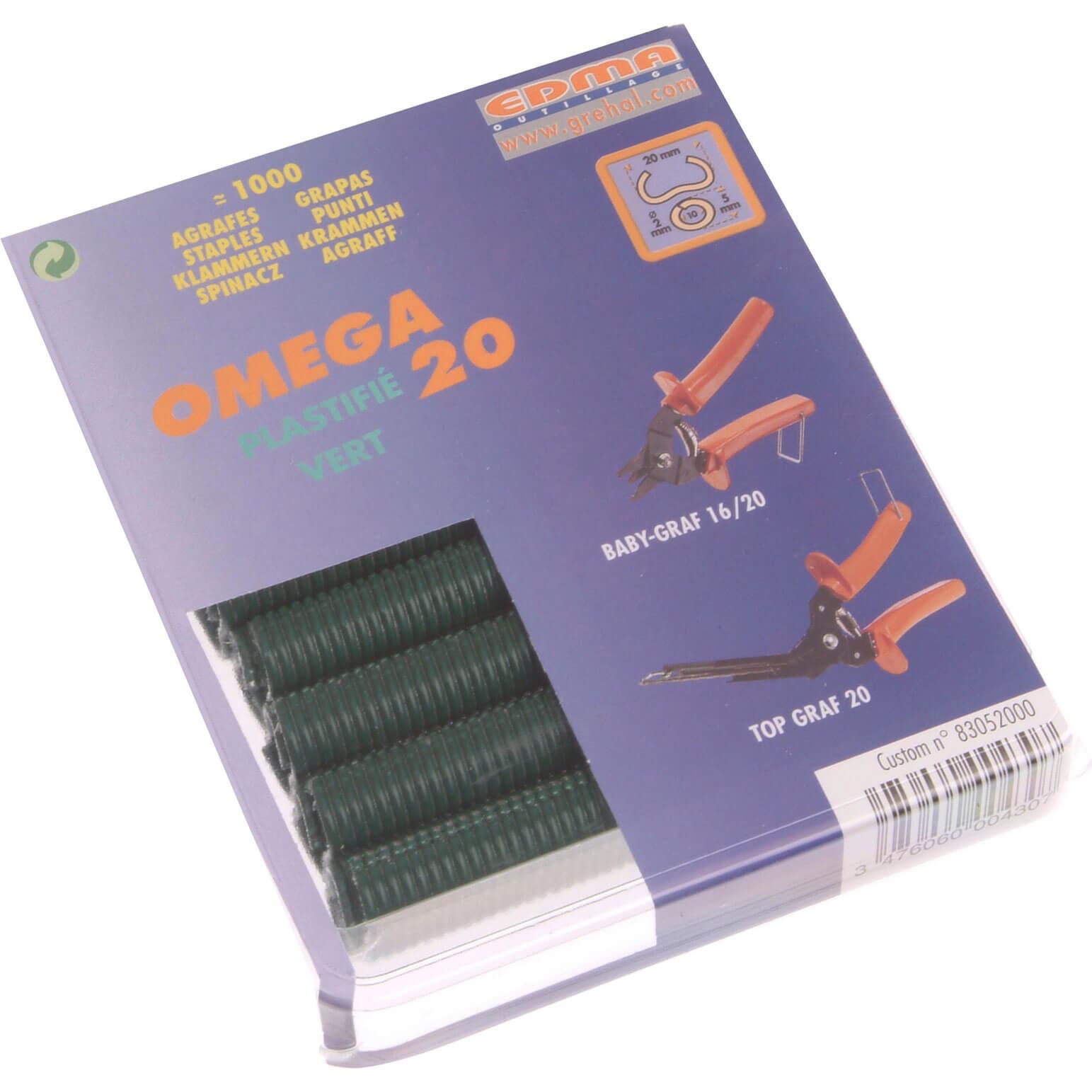 Image of Edma Green Coat Steel Hog Ring Omega Size 20 Pack of 1000