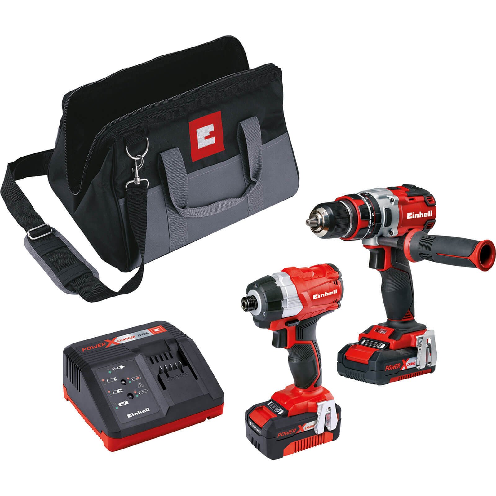 Einhell Power X Change Brushless Drill Twin Pack