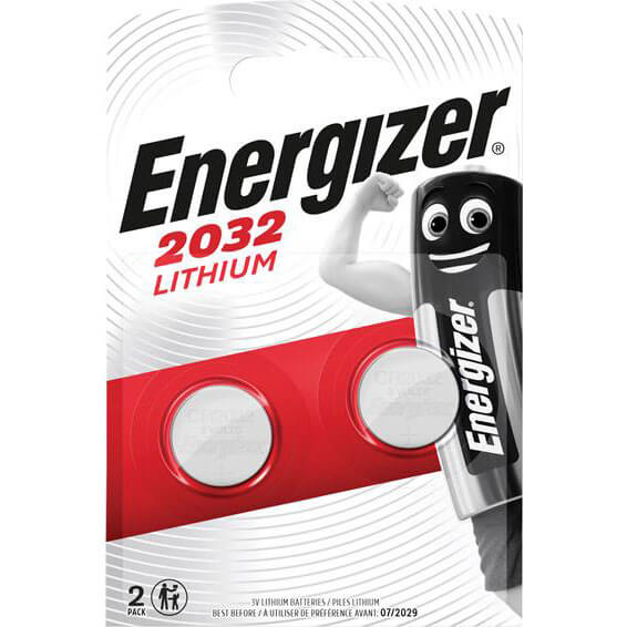Image of Energizer CR2032 Coin Lithium Battery Pack of 2