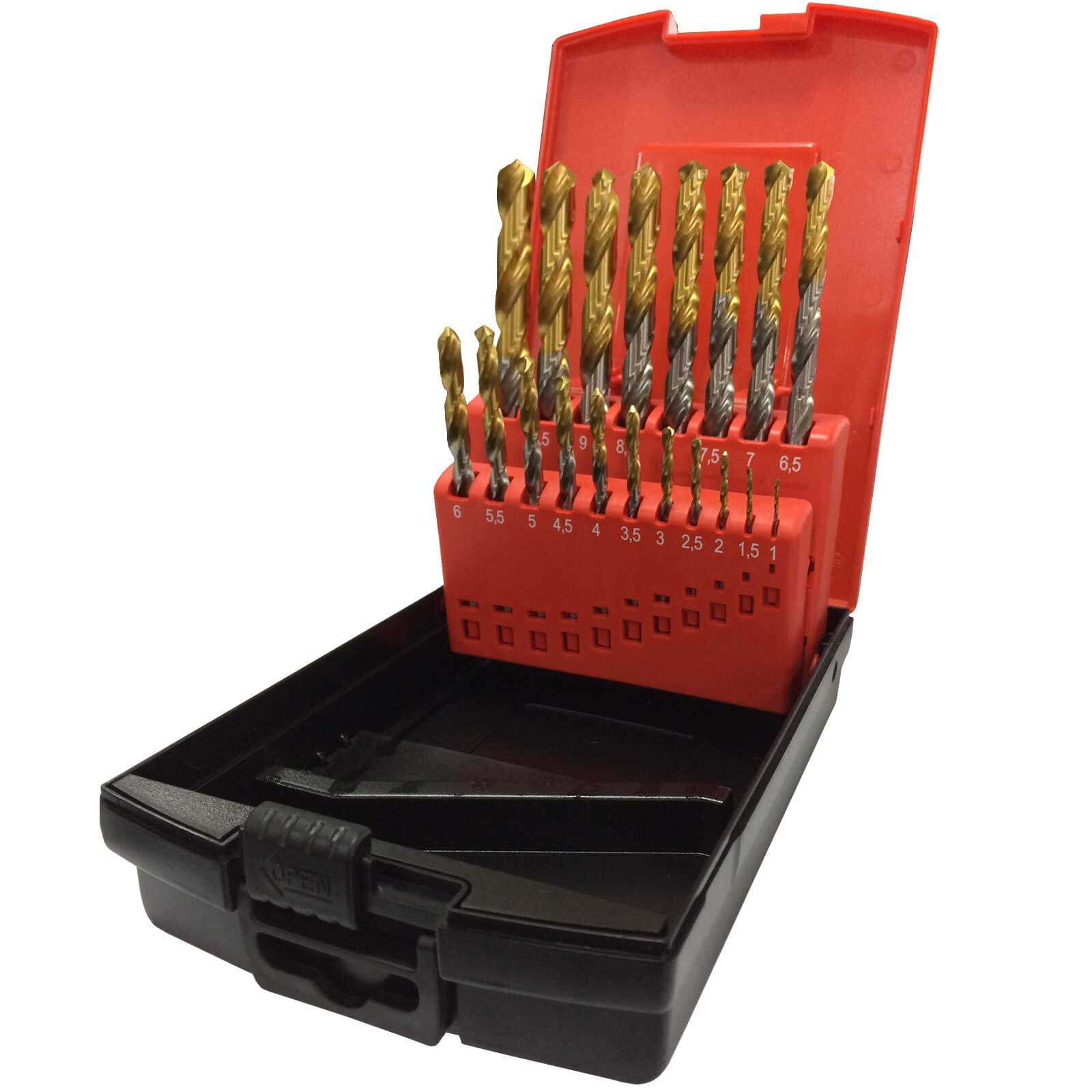 Image of Osborn Goldex 19 Piece HSS 1 - 10mm By 0.5mm Drill Set