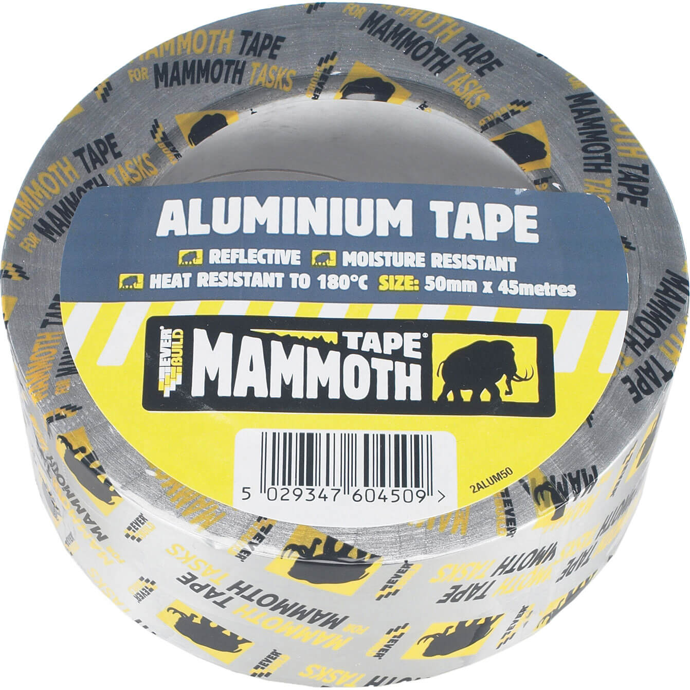 Image of Everbuild Mammoth Aluminium Tape 100mm 45m