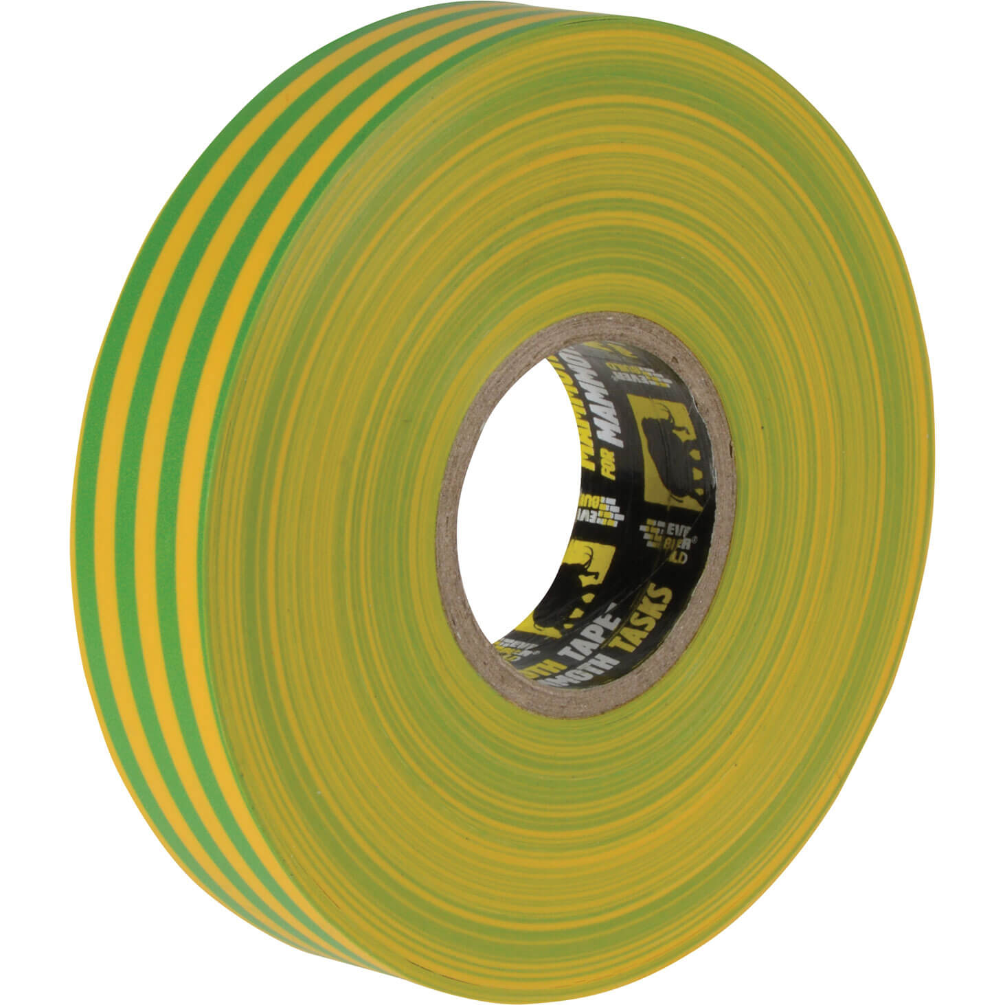 Image of Everbuild Electrical Insulation Tape Yellow / Green 19mm 33m
