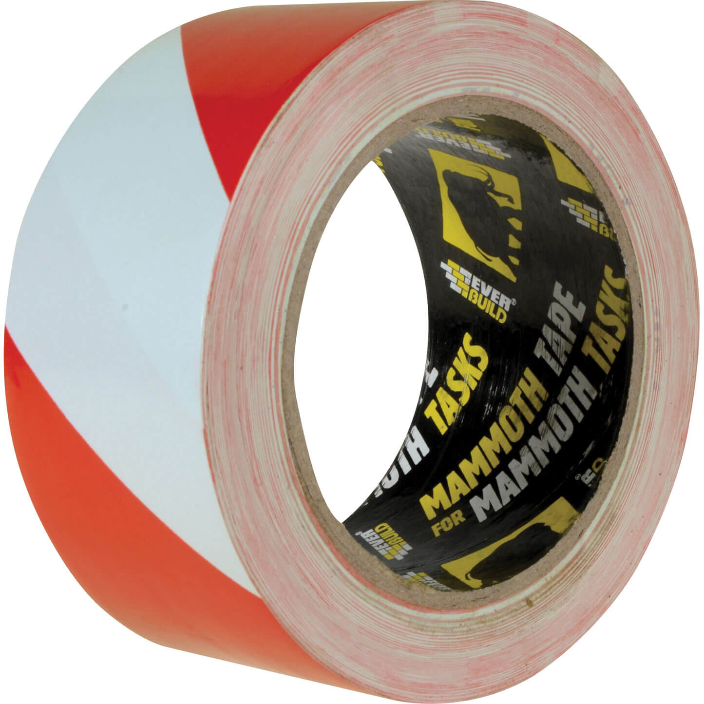 Image of Everbuild PVC Hazard Tape Red / Black 50mm 33m