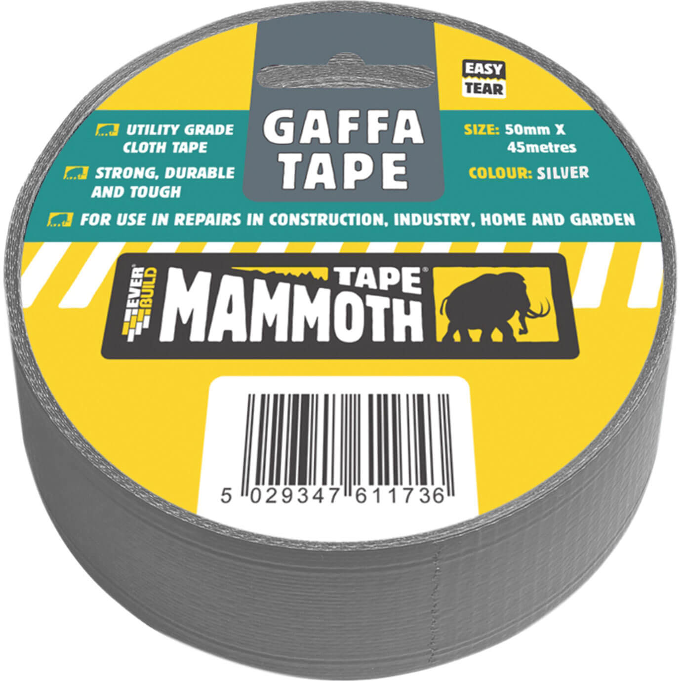 Image of Everbuild Gaffa Tape Silver 50mm 45m