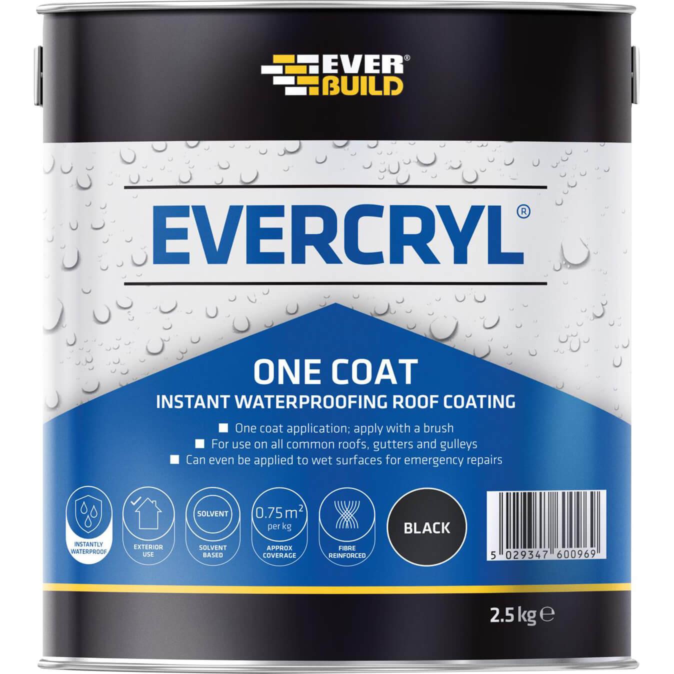 Everbuild Evercryl One Coat Black 2.5kg