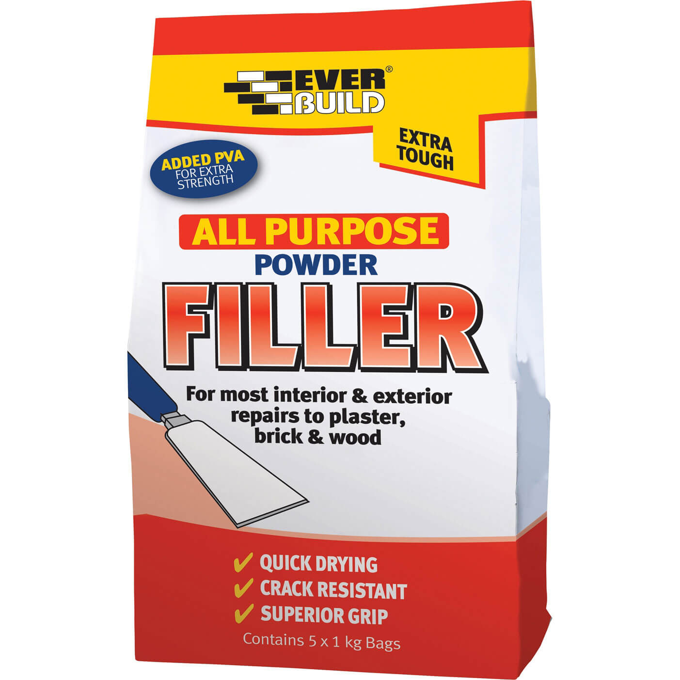 Image of Everbuild All Purpose Powder Filler 5kg