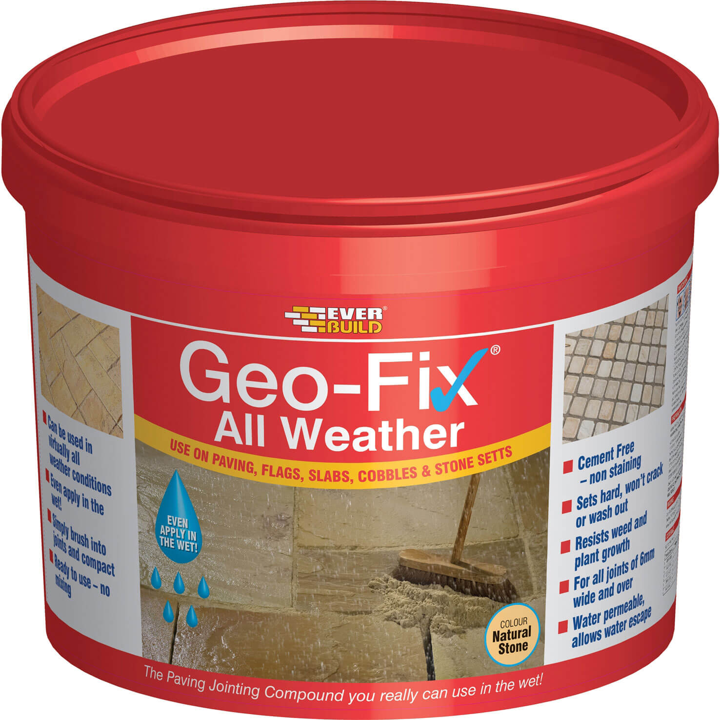Image of Everbuild Geo-Fix All Weather Jointing Compound for Patio Stones Natural Stone 14kg