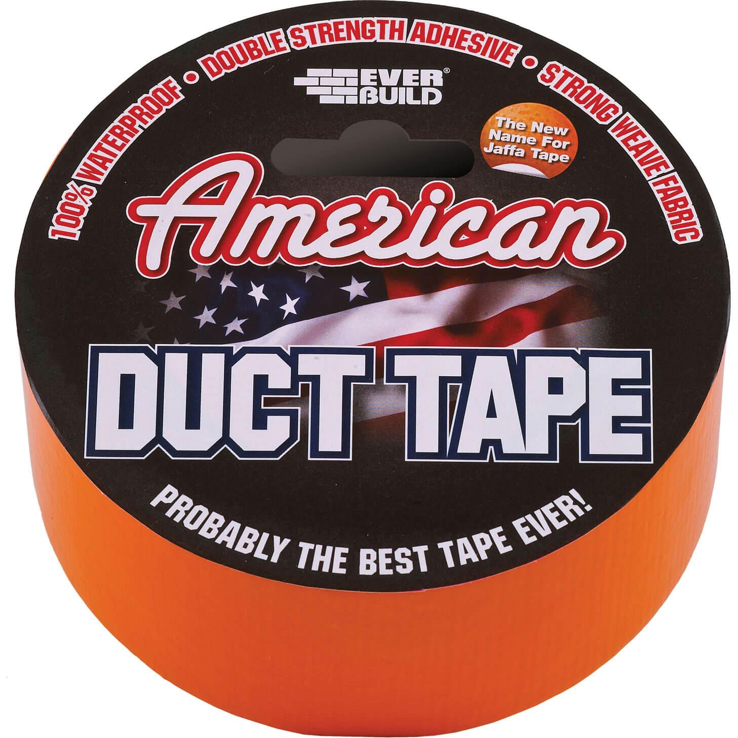 Image of Everbuild American Duct Tape Orange 50mm 25m