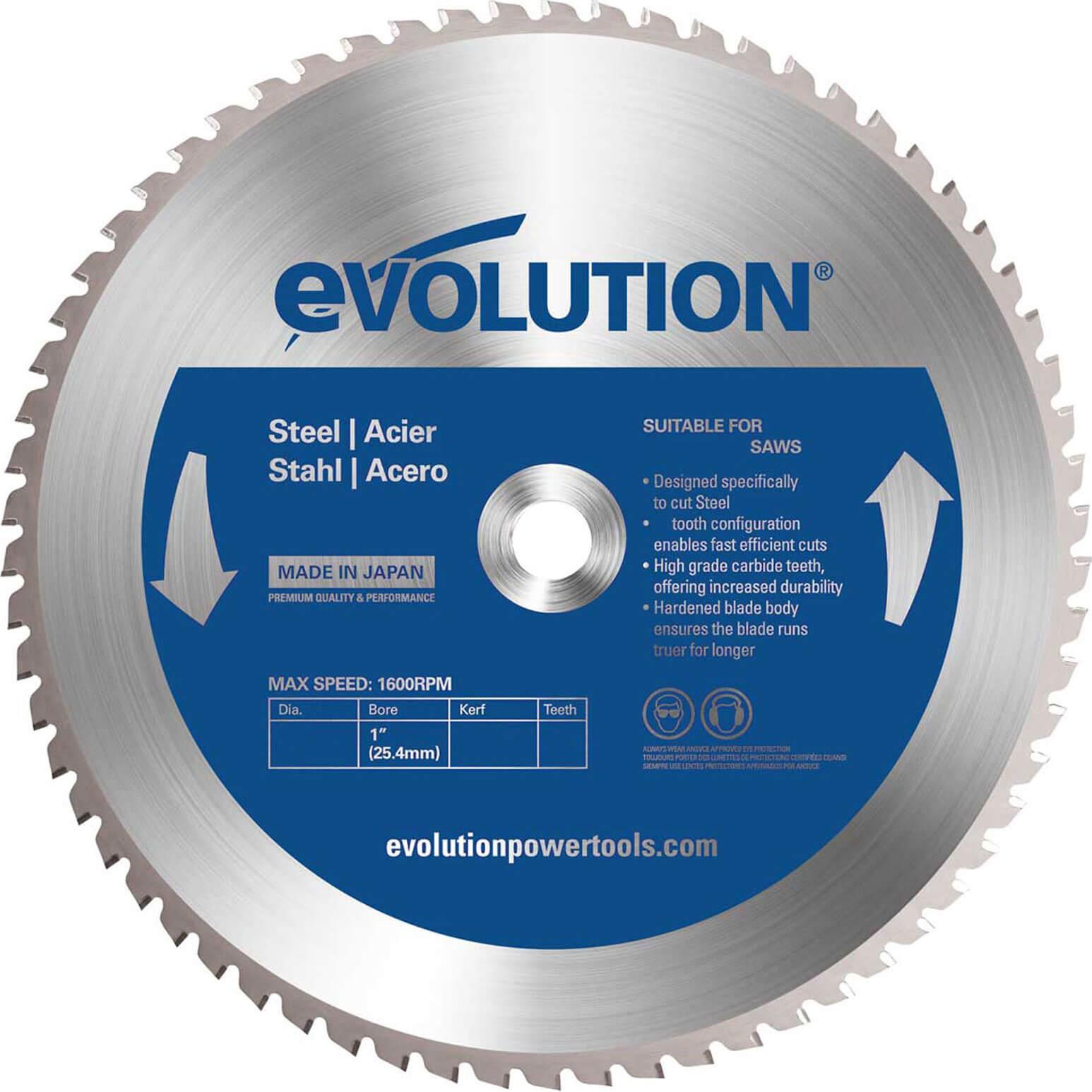 Image of Evolution Mild Steel Cutting Saw Blade 255mm 52T 25.4mm