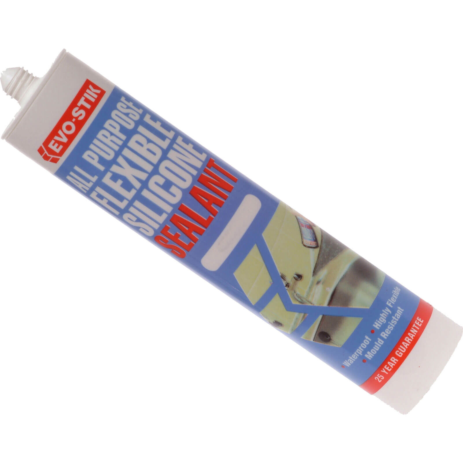 Image of Evostik All Purpose Flexible Silicone Sealant Clear 310ml