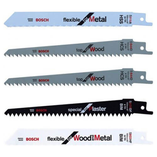 Image of Bosch 5 Piece Mixed Recipro Saw Blade Set for KEO Garden Saws