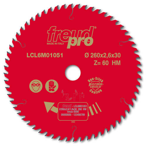 Image of Freud LCL6M Trim Circular Saw Blade 165mm 24T 20mm