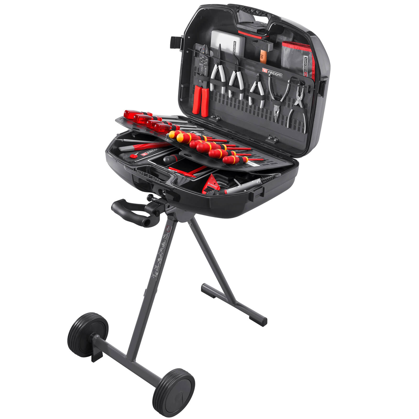 Image of Facom Trolley & Tool Case + 122 Piece Service Tool Set