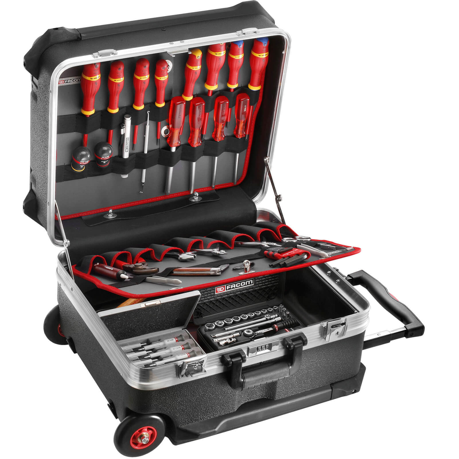 Image of Facom Trolley Tool Case + 122 Piece Service Tool Set