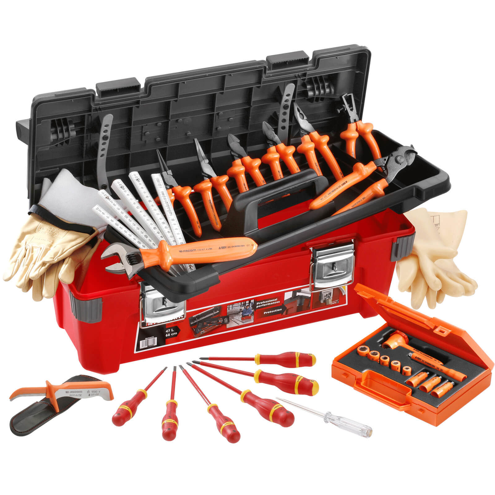 Image of Facom 2185C.VSE 20 Piece Insulated Hand Tool Kit